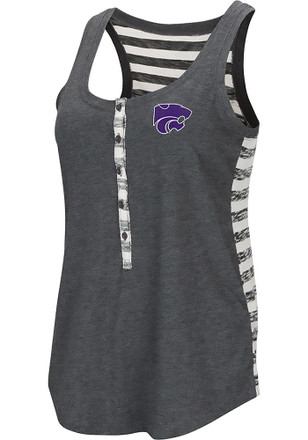 Colosseum K-State Wildcats Womens Grey Central Perk Tank Top