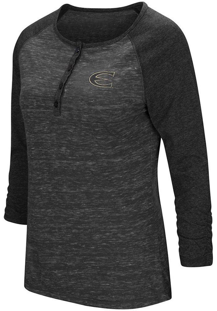Colosseum Emporia State Womens Gold Slopestyle Long Sleeve Scoop Neck - Image 1