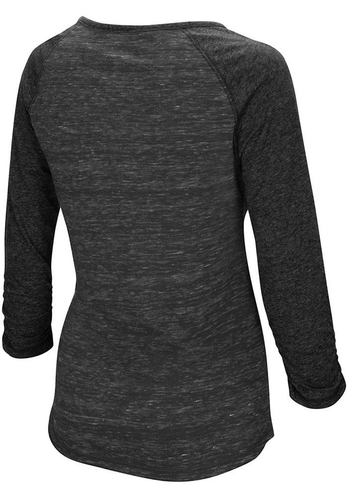 Colosseum Emporia State Womens Gold Slopestyle Long Sleeve Scoop Neck - Image 2