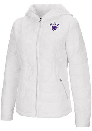Colosseum K-State Wildcats Womens As You Wish White Medium Weight Jacket