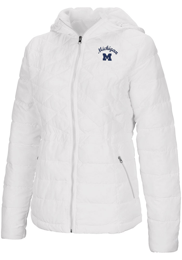 Colosseum Michigan Wolverines Womens White As You Wish Heavy Weight Jacket - Image 1