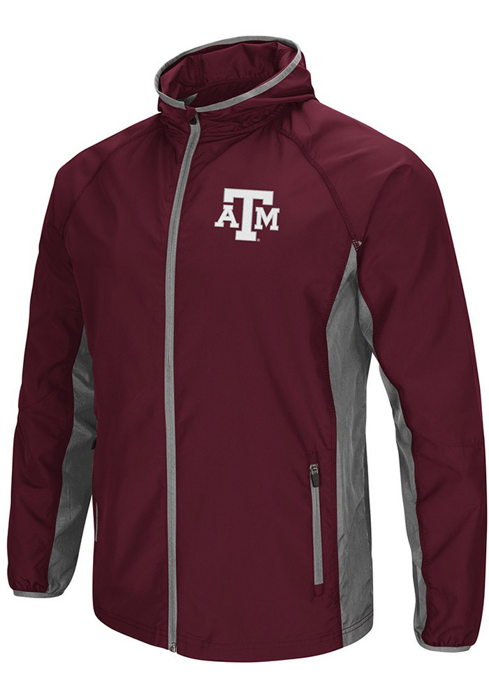 Colosseum Texas A&M Aggies Mens Maroon Archer Light Weight Jacket - Image 1