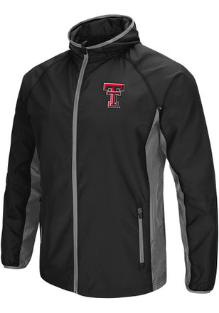 Colosseum Texas Tech Red Raiders Mens Black Archer Zip
