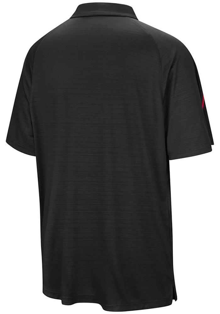 Colosseum Rutgers Scarlet Knights Mens Red Setter Short Sleeve Polo - Image 2