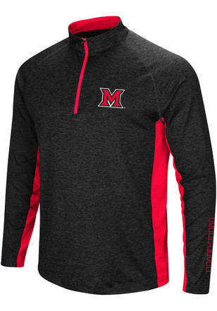 Colosseum Miami Redhawks Mens Black Upstart 1/4 Zip Pullover