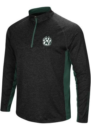 Colosseum Northwest Missouri State Bearcats Mens Black Upstart 1/4 Zip Pullover