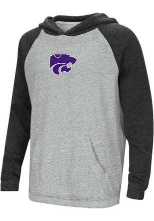 Colosseum K-State Wildcats Kids Grey One-Eyed Hooded Sweatshirt