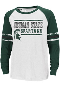 Colosseum Michigan State Spartans Youth White Marble Bag T-Shirt