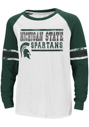 Colosseum Michigan State Spartans Youth White Marble Bag Long Sleeve T-Shirt