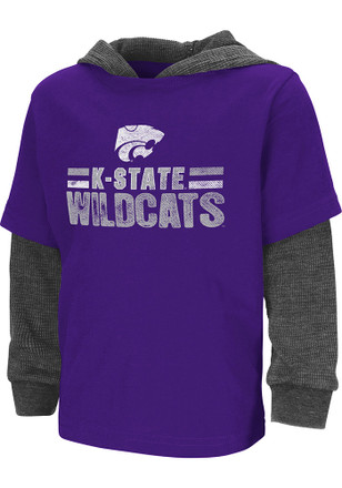 Colosseum K-State Wildcats Toddler Purple Sloth T-Shirt