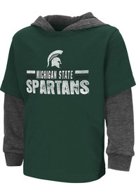Colosseum Michigan State Spartans Toddler Green Sloth T-Shirt