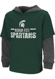 Colosseum Michigan State Spartans Toddler Green Sloth Long Sleeve T-Shirt