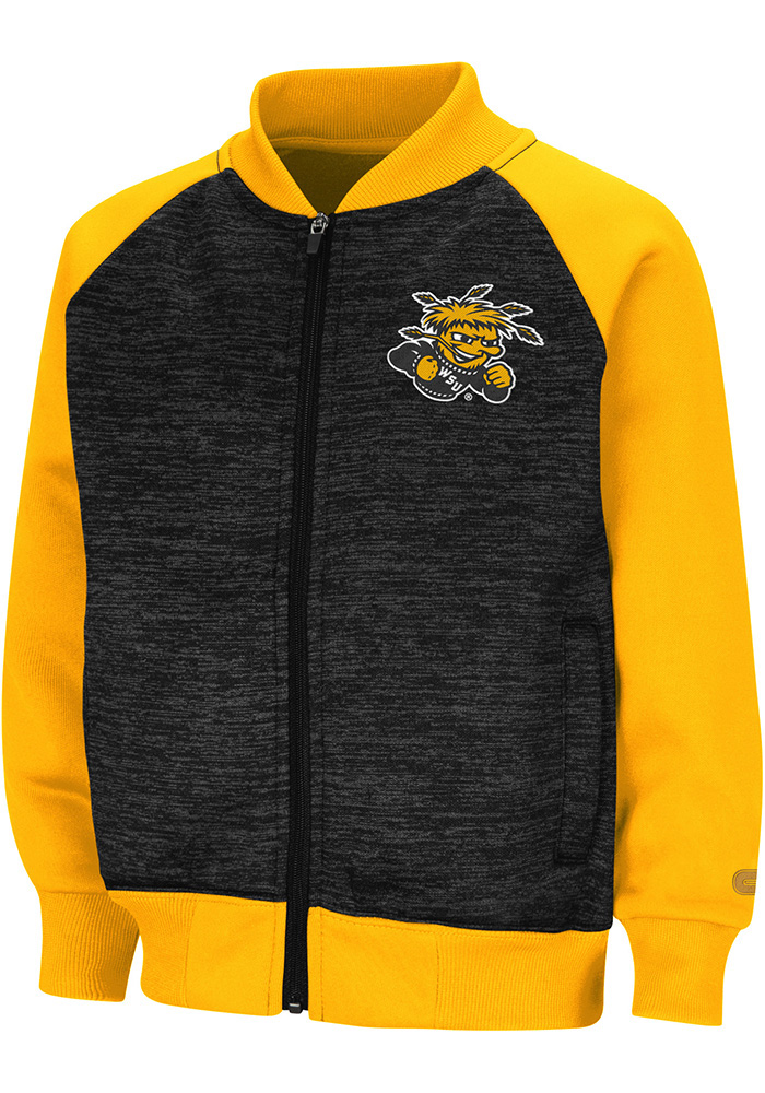 Colosseum Wichita State Shockers Toddler Goonies Long Sleeve Full Zip Sweatshirt - Black - Image 1
