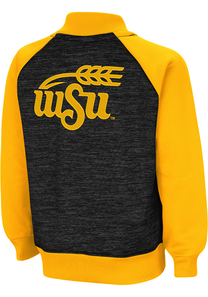 Colosseum Wichita State Shockers Toddler Goonies Long Sleeve Full Zip Sweatshirt - Black - Image 2