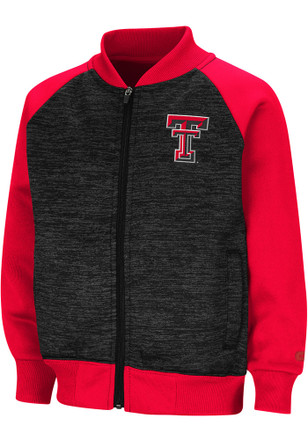 Colosseum Texas Tech Red Raiders Toddler Black Goonies Full Zip Jacket