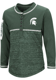 Michigan State Spartans Toddler Girls Green Wishing Well Long Sleeve T Shirt