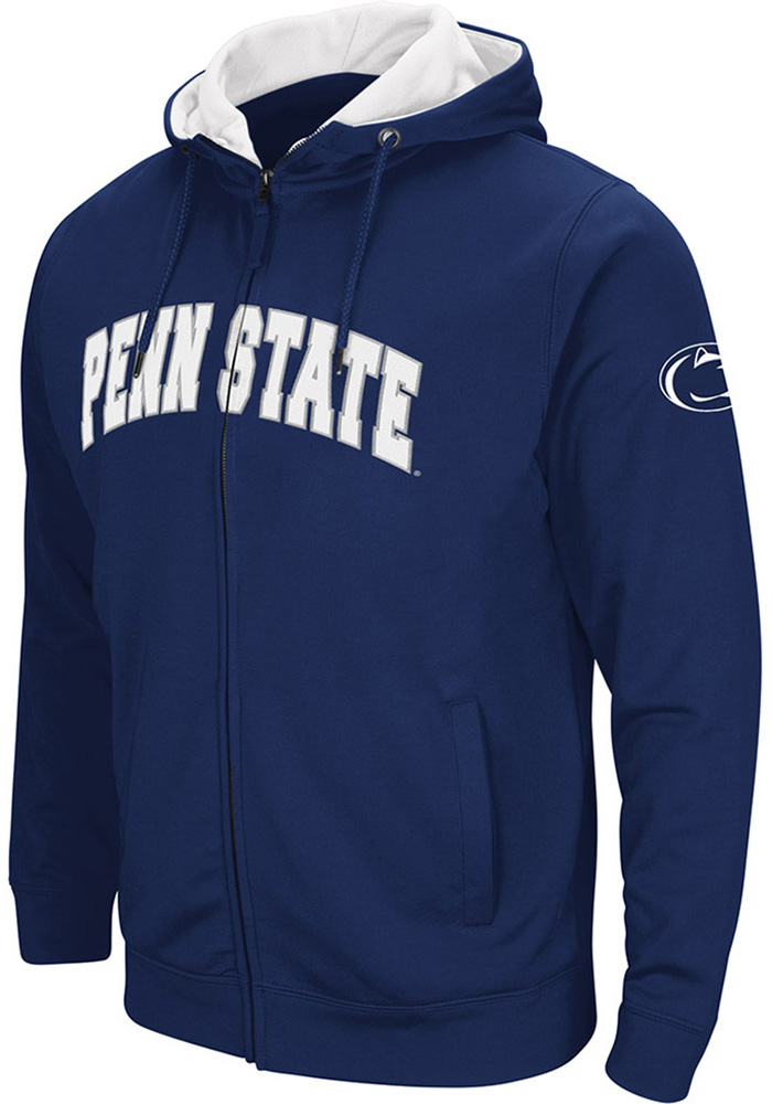 Colosseum Penn State Nittany Lions Mens Navy Blue Classic Long Sleeve Full Zip Jacket - Image 1