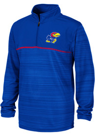 Kansas Jayhawks Youth Colosseum Salta Quarter Zip - Blue