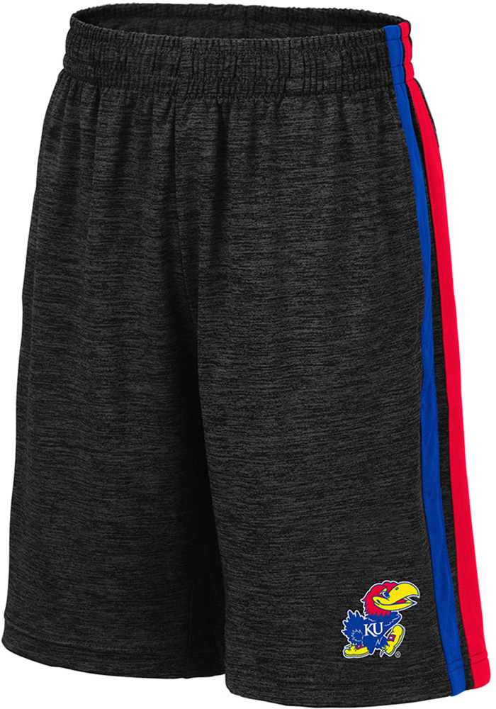 Colosseum Kansas Jayhawks Youth Black Mendoza Shorts - Image 1
