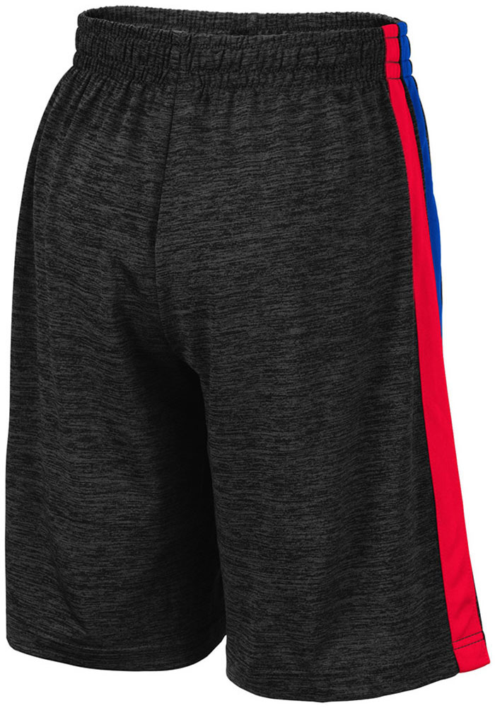 Colosseum Kansas Jayhawks Youth Black Mendoza Shorts - Image 2