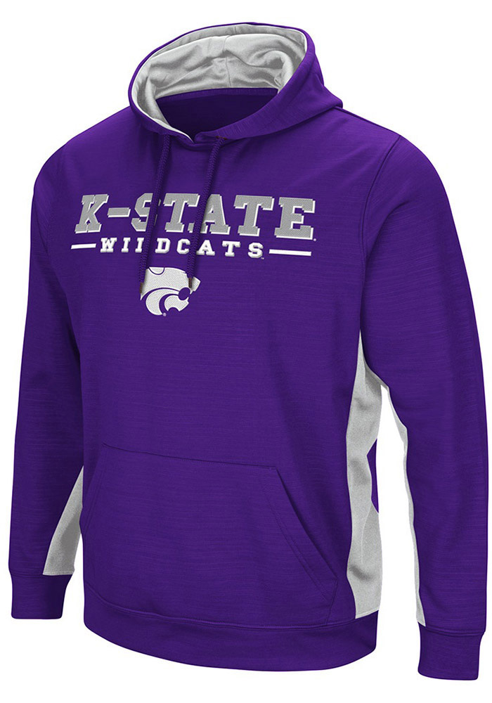 Colosseum K-State Wildcats Mens Men's Setter Pullover Hoodie Hood