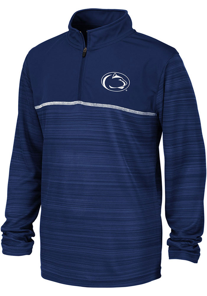 Colosseum Penn State Nittany Lions Youth Navy Blue Salta Long Sleeve Quarter Zip Shirt - Image 1