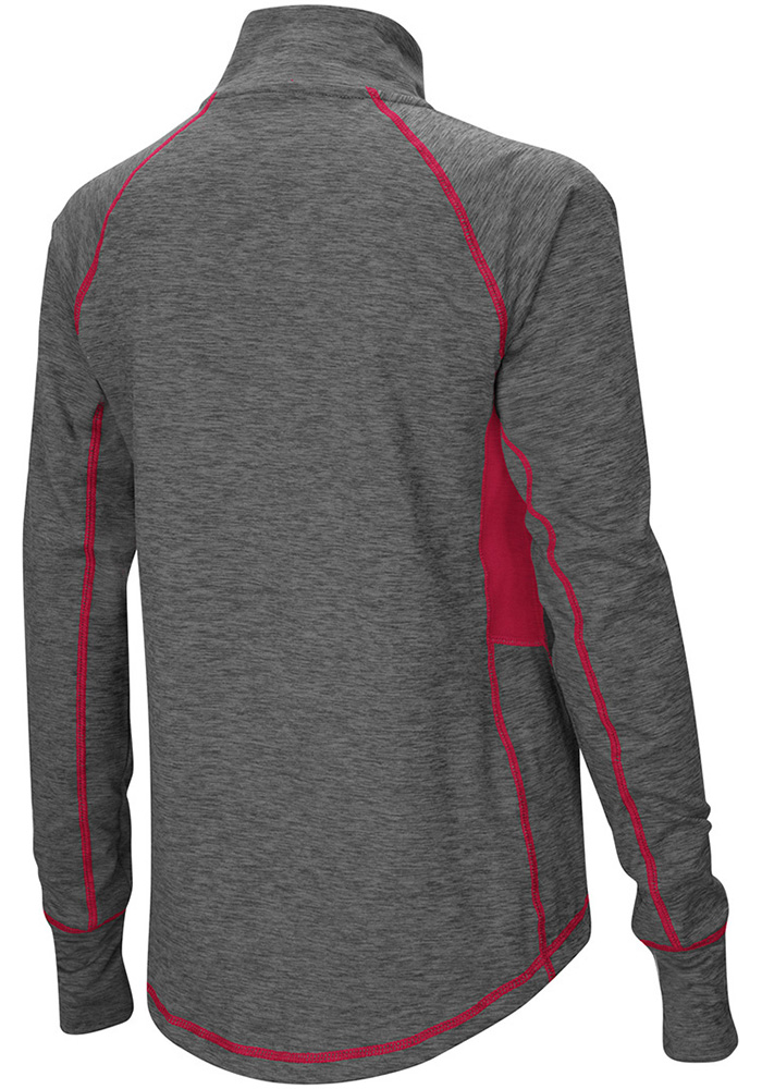 Colosseum Oklahoma Sooners Womens Grey Sabre 1/4 Zip Pullover 1/4 Zip Pullover - Image 2