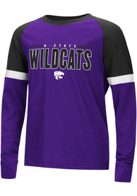K-State Wildcats Youth Colosseum Ollie T-Shirt - Purple