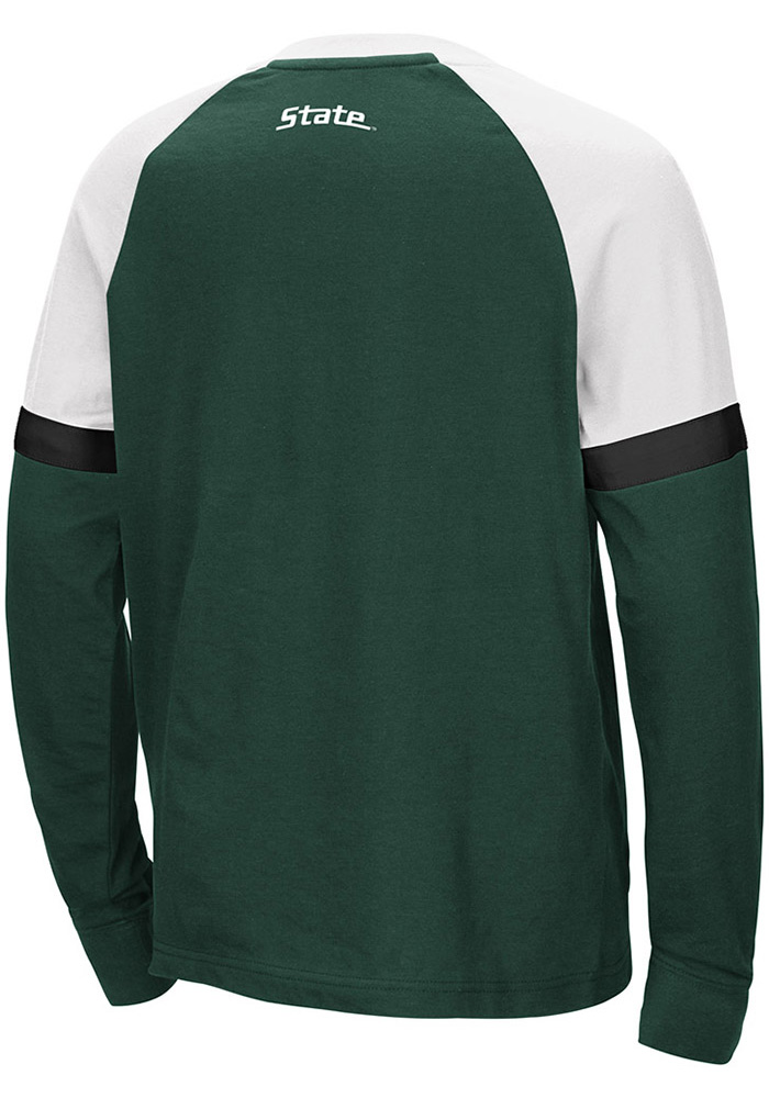 Colosseum Michigan State Spartans Youth Green Ollie Long Sleeve Fashion T-Shirt - Image 2