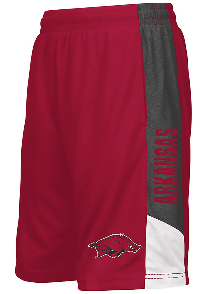 Colosseum Arkansas Razorbacks Youth Cardinal Strike Shorts - Image 1