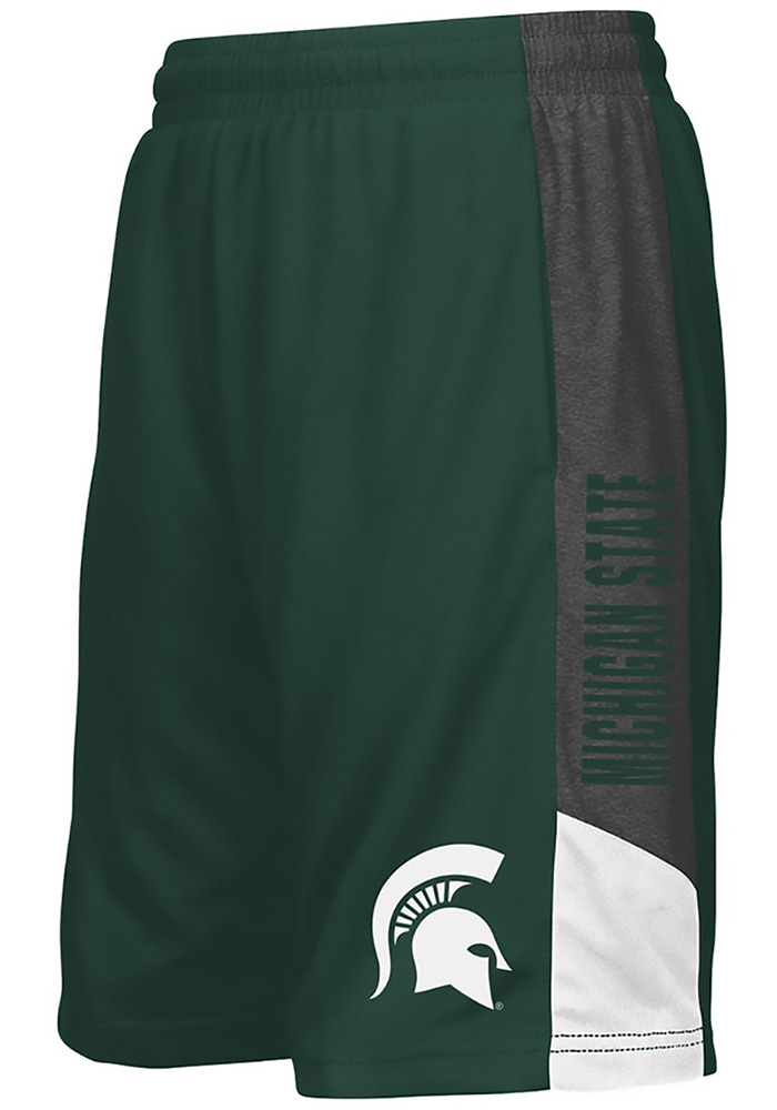 Colosseum Michigan State Spartans Youth Green Strike Shorts - Image 1