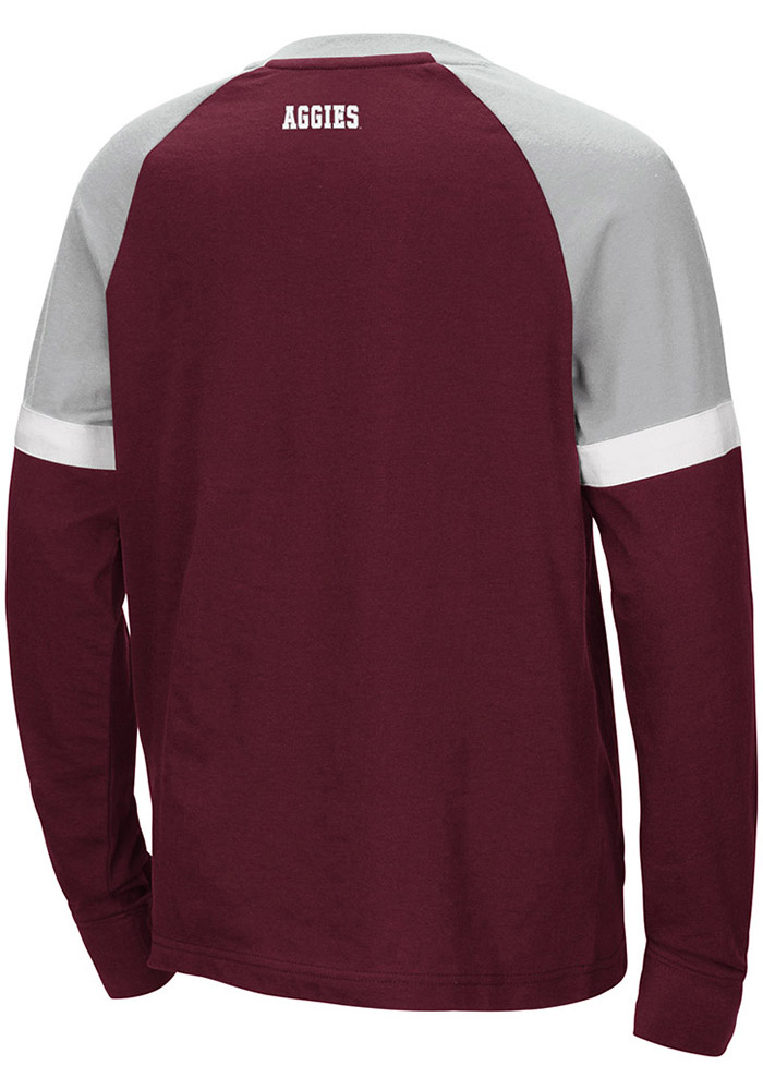 Colosseum Texas A&M Aggies Youth Maroon Ollie Long Sleeve Fashion T-Shirt - Image 2