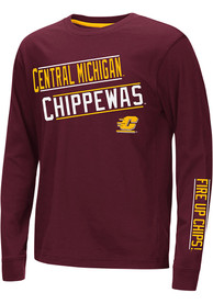 Central Michigan Chippewas Youth Colosseum Groomed T-Shirt - Maroon