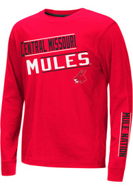 Central Missouri Mules Youth Colosseum Groomed T-Shirt - Red