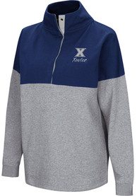 Xavier Musketeers Womens Colosseum Breakthrough 1/4 Zip Pullover - Navy Blue