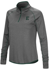 Eastern Michigan Eagles Womens Colosseum Shark 1/4 Zip - Charcoal