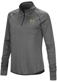 Fort Hays State Tigers Womens Colosseum Shark 1/4 Zip - Charcoal