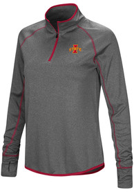 Iowa State Cyclones Womens Colosseum Shark 1/4 Zip - Charcoal