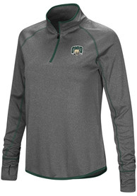 Ohio Bobcats Womens Colosseum Shark 1/4 Zip - Charcoal