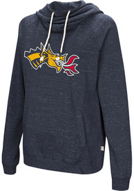 Drexel Dragons Womens Colosseum Ill Go With Hooded Sweatshirt - Navy Blue