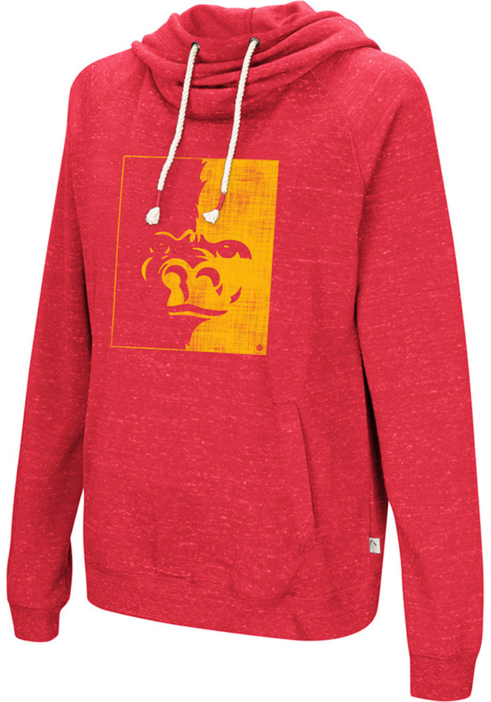 Colosseum Pitt State Gorillas Womens Red I'll Go With Hooded Sweatshirt - Image 1
