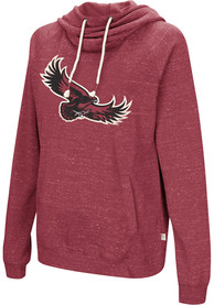 Saint Josephs Hawks Womens Colosseum Ill Go With Hooded Sweatshirt - Red