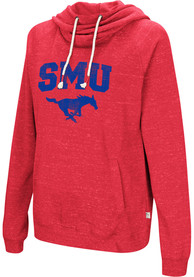 SMU Mustangs Womens Colosseum Ill Go With Hooded Sweatshirt - Blue