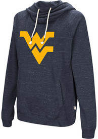 West Virginia Mountaineers Womens Colosseum Ill Go With Hooded Sweatshirt - Navy Blue