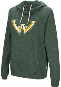 Colosseum Wayne State Warriors Womens Green Ill Go With Hoodie