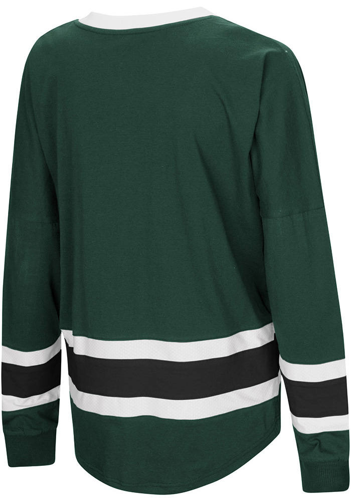 Colosseum Wayne State Warriors Womens Green Marquee LS Tee - Image 2