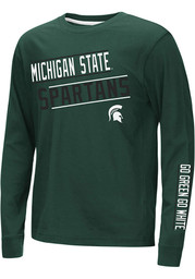 Colosseum Michigan State Spartans Youth Green Groomed Long Sleeve T-Shirt