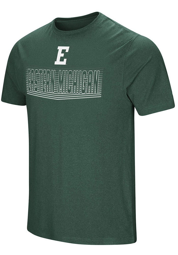 Colosseum Eastern Michigan Eagles Green ELECTRICITY Short Sleeve T Shirt - Image 1