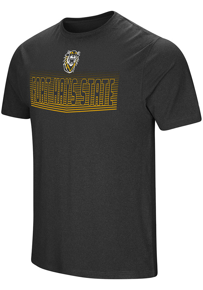 Colosseum Fort Hays State Tigers Black Electricity Short Sleeve T Shirt - Image 1