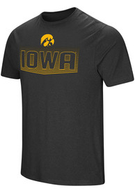 Colosseum Iowa Hawkeyes Black ELECTRICITY Tee
